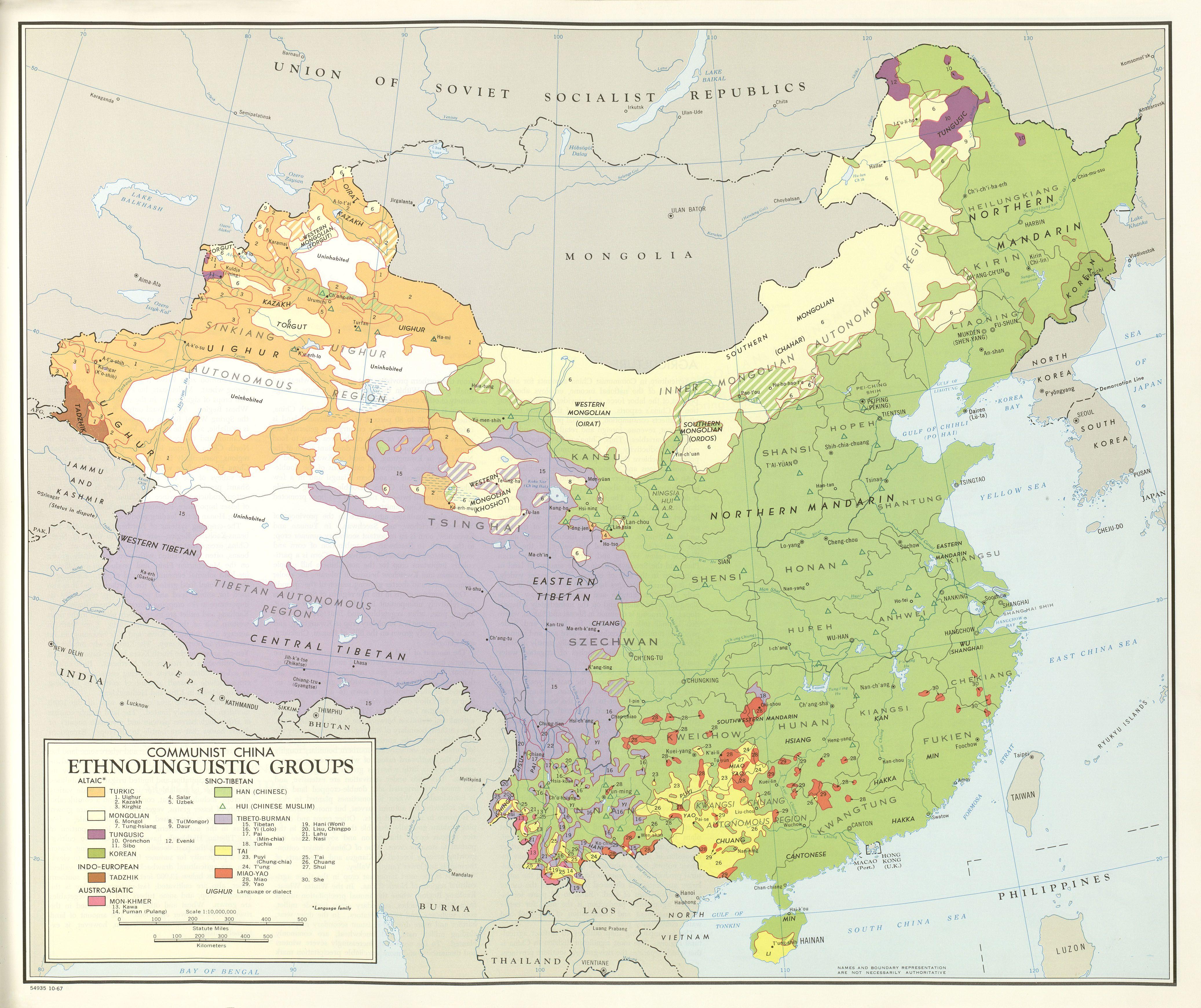 Ethnolinguistic Groups Of China 20th C