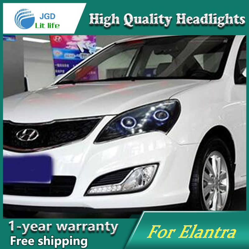 High Quality Car Styling Case For Hyundai Elantra 2008 2010 Headlights Led Headlight Drl Lens Double Beam Hid Xenon Hyundai Elantra Elantra Car Lights