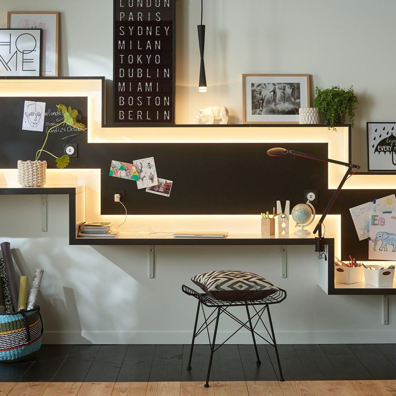 Bureau Noir Et Blanc Paulmann Autre Style Mobilier De Salon Bureau Decoration
