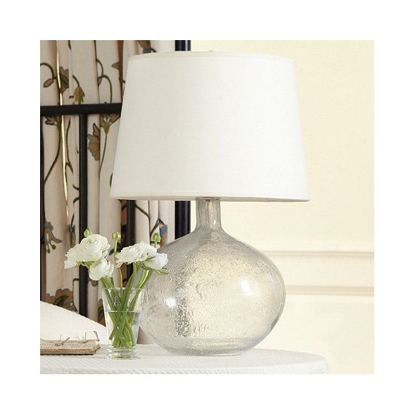Malia seeded glass table lamp ballard designs