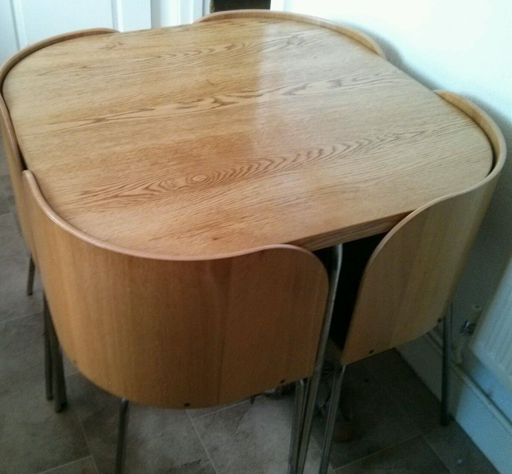 Fresh Kitchen Ikea Kitchen Table And Chairs Set With: Ikea Fusion Kitchen Dining Set Table & 4 Chairs Oak Veneer