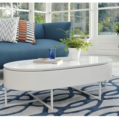 Click To Zoom Pod Lift Up Coffee Table White
