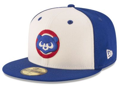 5ece37c1037 Chicago Cubs MLB Vintage Throwback 59FIFTY Cap Hats
