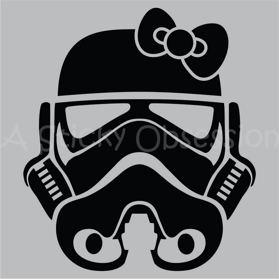Star Wars Inspired Girl Stormtrooper Helmet Decal By AStickyObsession On  Etsy Ok All You Fem Troopers Out There. This Is For You.