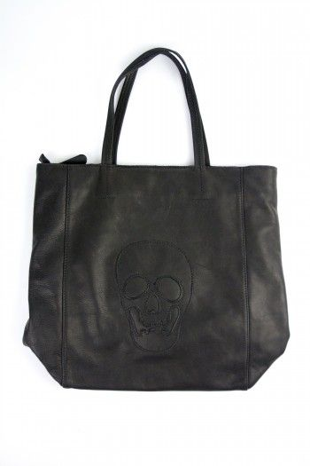 Leather Skull Tote