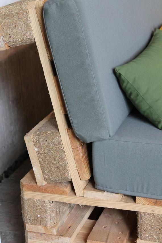 Construire un salon de jardin en bois de palette | idee terrasse ...