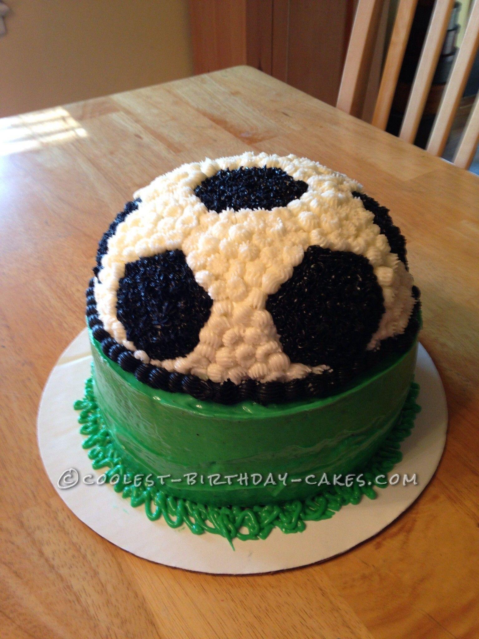 Coolest Homemade Soccer Ball Cake Soccer Cake Soccer Ball Cake Diy Birthday Cake