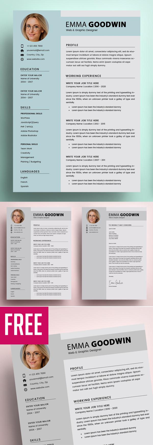 Resume + Cover Letter in 2020 Cover letter for resume