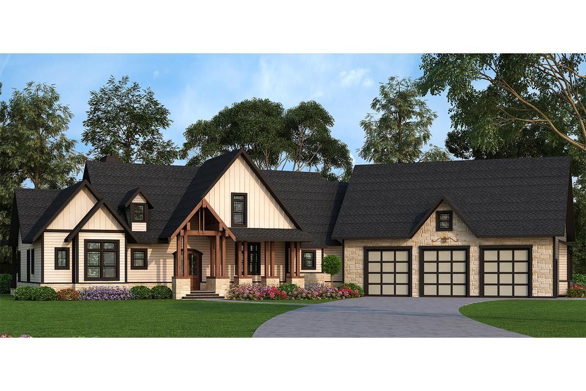 House Plan 4195 00020 Craftsman Plan 2 666 Square Feet 3 4 Bedrooms 2 5 Bathrooms Craftsman Style House Plans Country Style House Plans Texas Style Homes