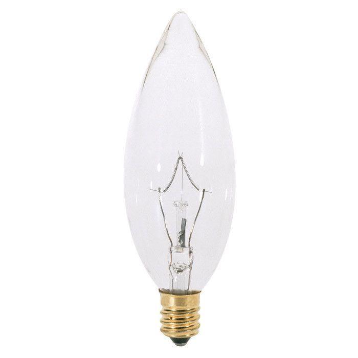 Satco S3386 25W 220V B10 Clear E12 Candelabra Base Incandescent bulb