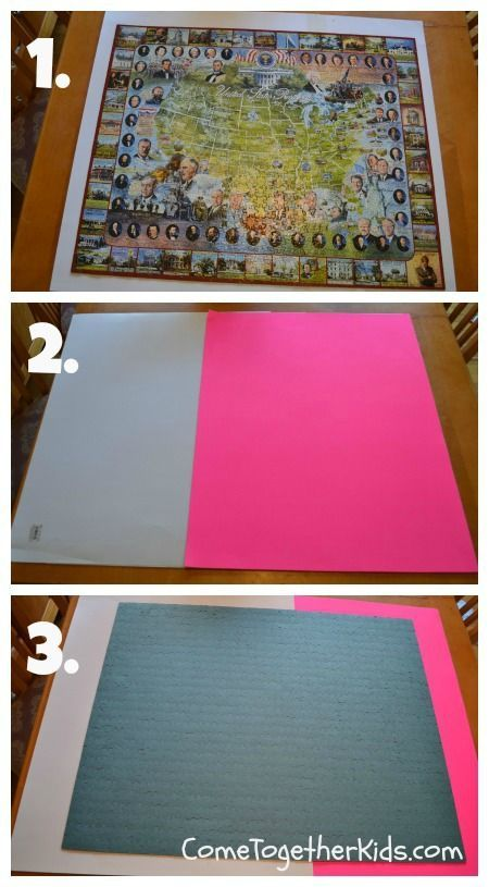 How to Preserve a Puzzle without Glue! #TIP | art | Pinterest ...
