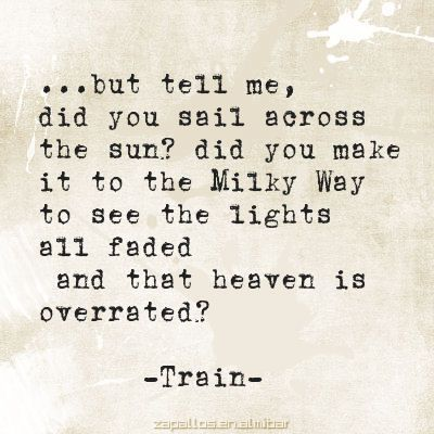 train drops of jupiter lyrical angels pinterest