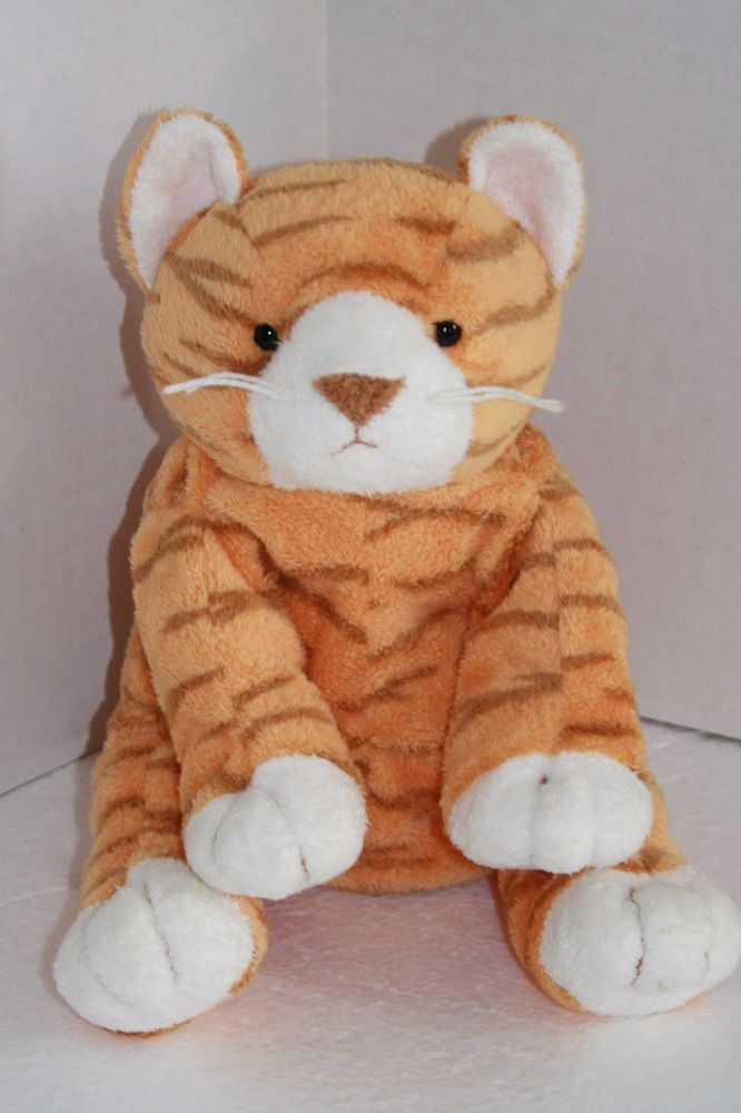Ty Pluffies Purrz The Cat Pretty Orange Striped Tabby Kitty Cat