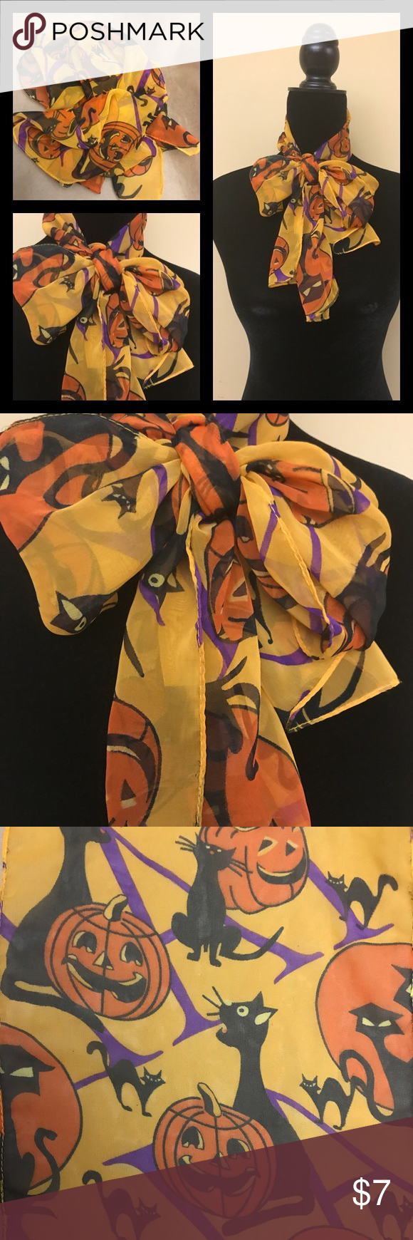 Halloween Themed Hair Scarf Scarf Hello, for your