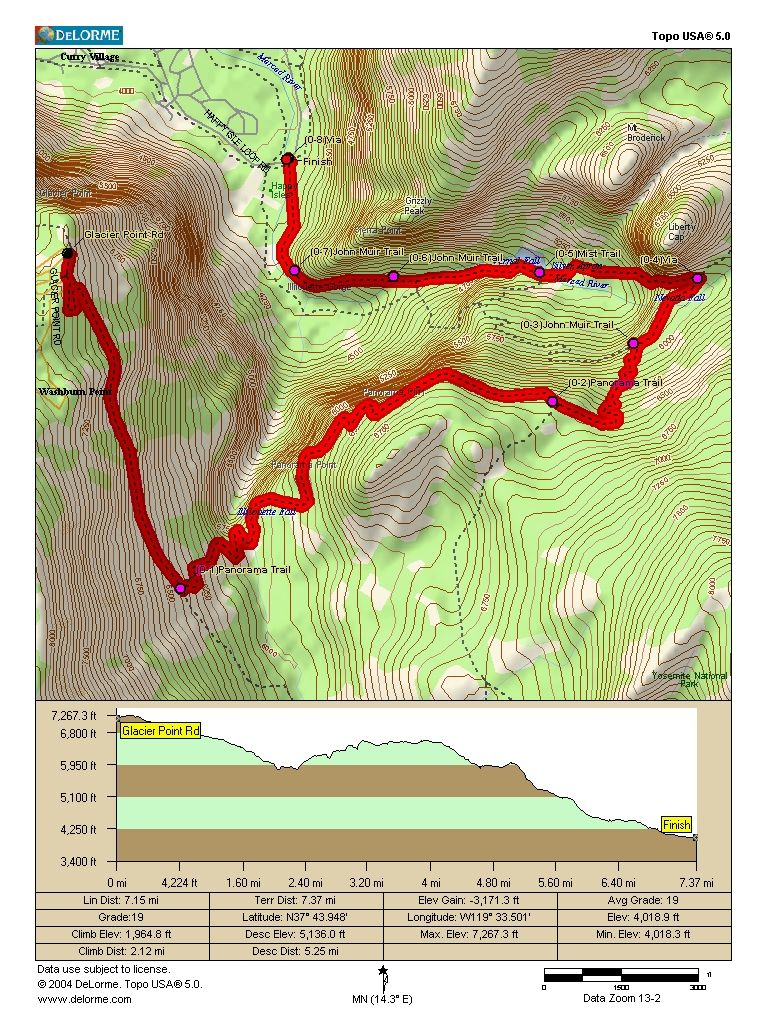 my next hiking challenge Yosemites Panorama Trail 85km137mi