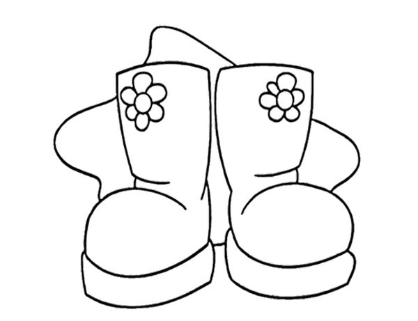 Snow Boots For Girl Oloring Page Winter Coloring Page - coloring page winter boots