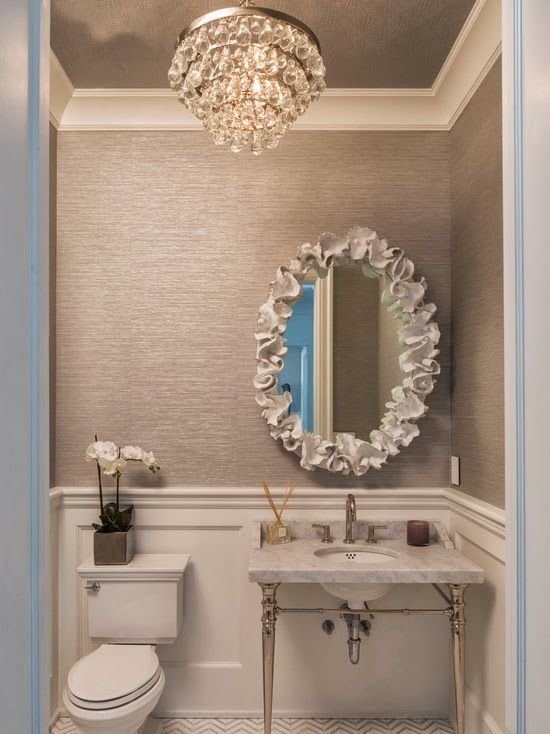 You could make this mirror frame with air drying clay for Bathroom ceiling paint ideas