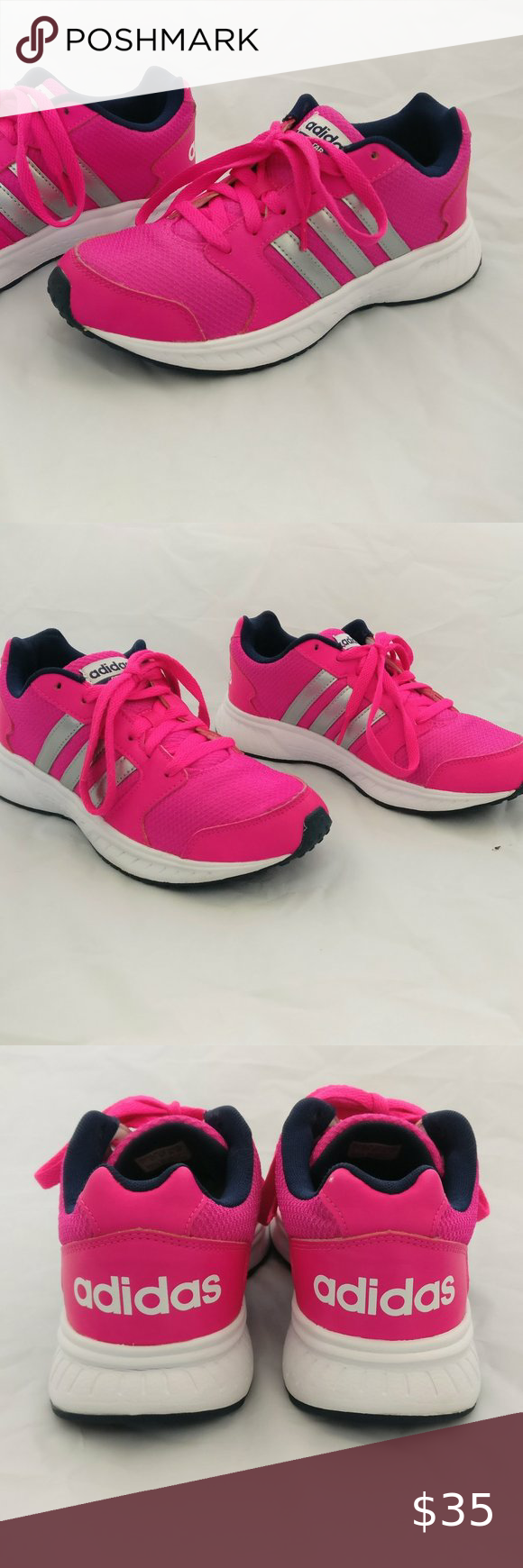 Used Size 7 Adidas Neo Star Pink