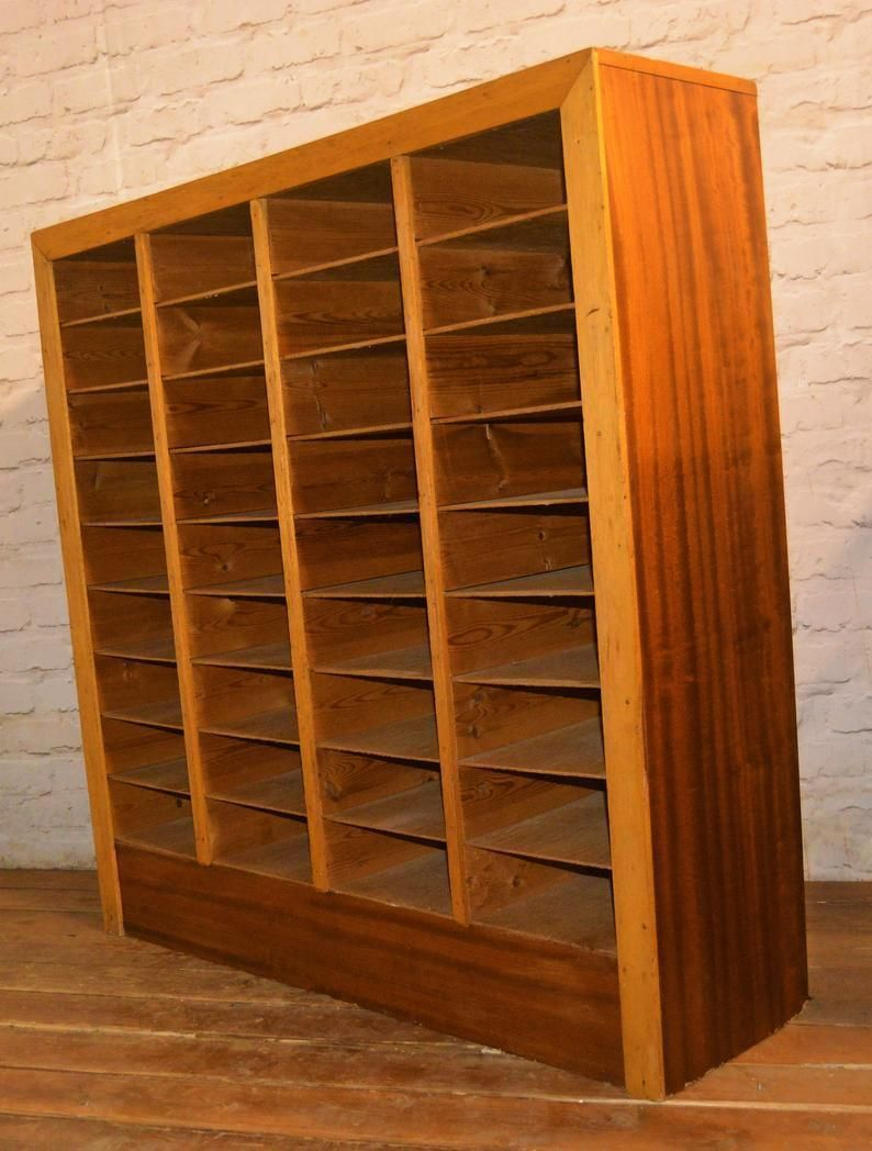 Pigeon Hole Draw Cabinet Mid Century