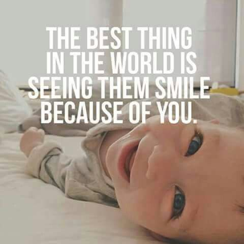 The Best Thing In The World Is Seeing Them Smile Because Of You Babysmiles Christmasjoy Blessed Myheartisful Baby Quotes Quotes About Motherhood Mom Memes