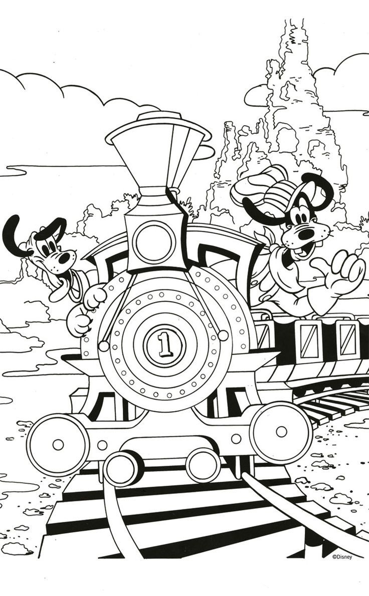 Free Goofy and Pluto Coloring Page! #Printable http://ibeebz.com ...