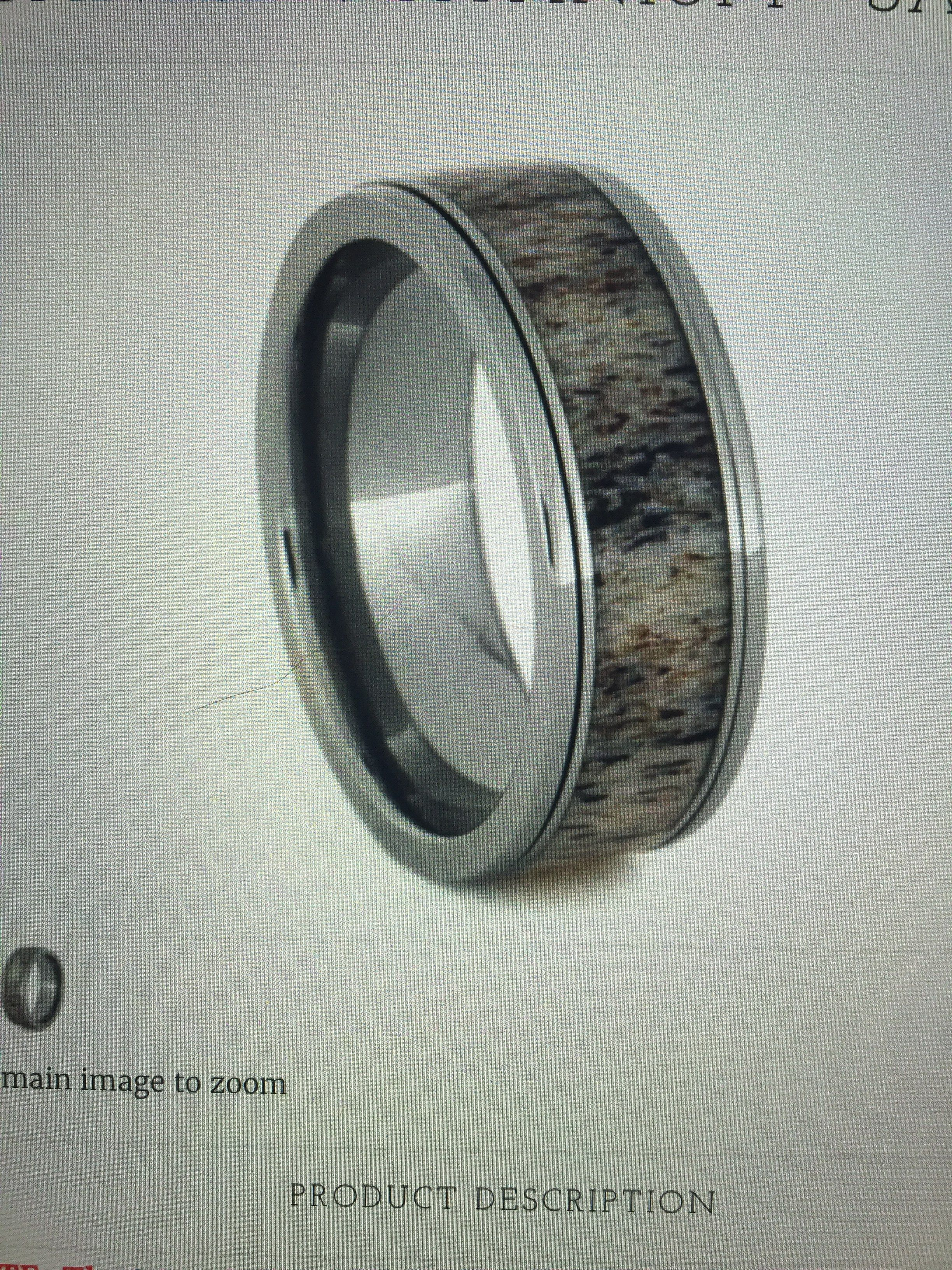 zoom men antler on copper il listing ring mens s titanium and elk rings fullxfull patina wedding