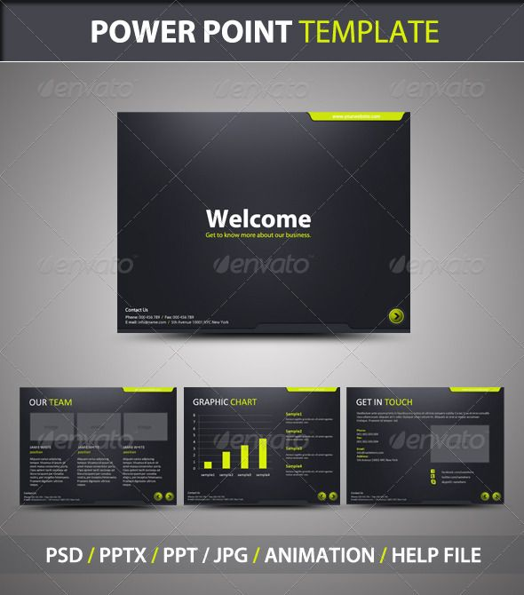 stylish powerpoint template - graphicriver item for sale | j, Modern powerpoint