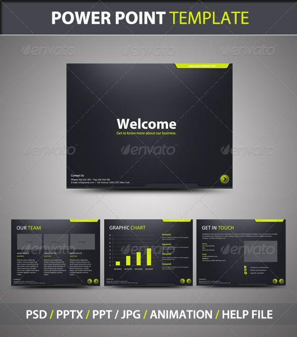 stylish powerpoint template | template, powerpoint presentation, Presentation templates