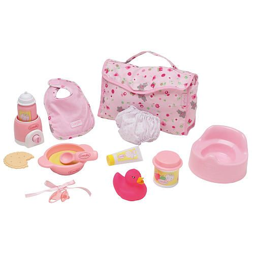 Corolle my first baby doll accessory set for 12 inch baby for Porte bebe toys r us