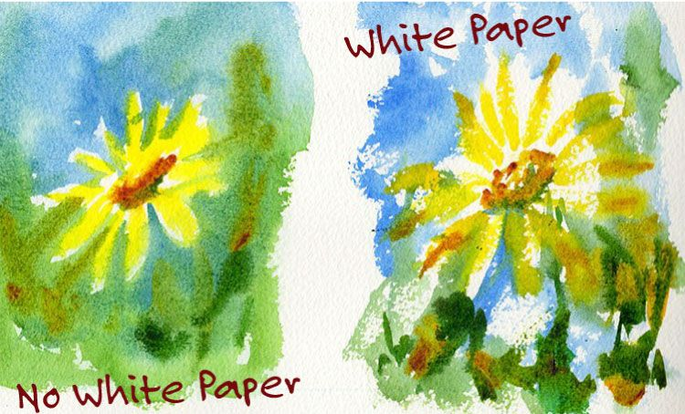 White Paper Watercolor Painting Mistake The Only Part Of That