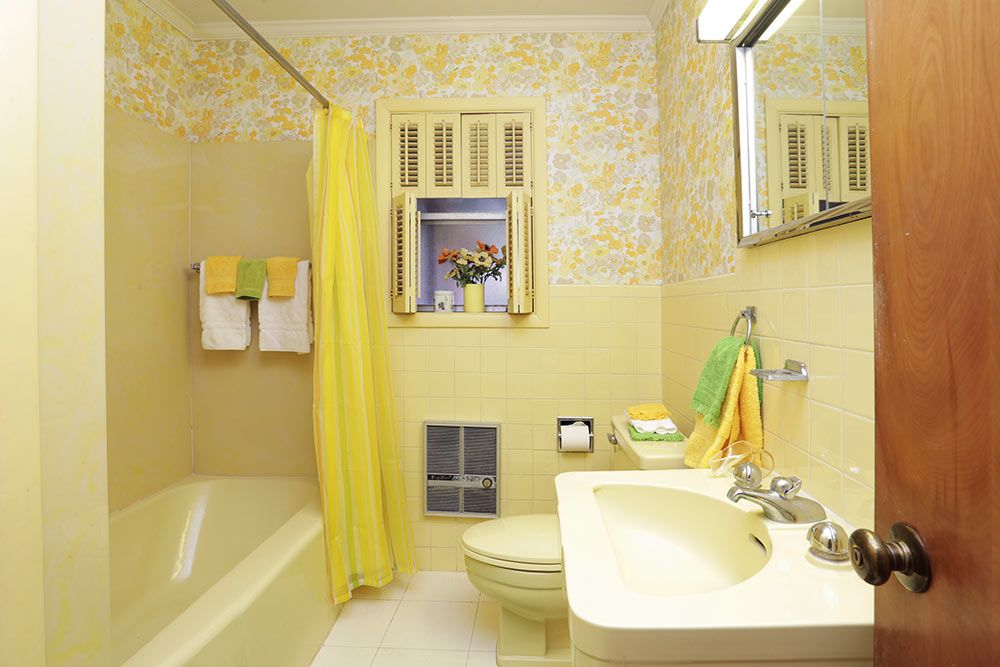 1954 Texas Time Capsule House   Interior Design Perfection   26 Photos.  Pale Yellow BathroomsVintage ...