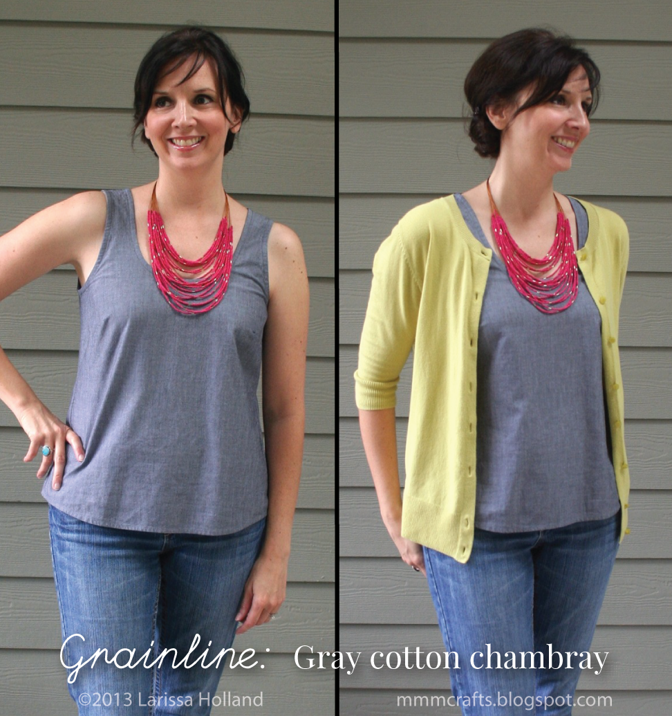 Awesome blog sewing and comparing Tiny Pocket Tank and Wiksten Tank....really looks like TPT is more for me, slimmer fit and narrower straps....also marvellous tips on adjusting TPT for back gaping, shorter torso, etc. mmmcrafts: in which I sew a large number of woven tanks (or, Grainline vs Wiksten)