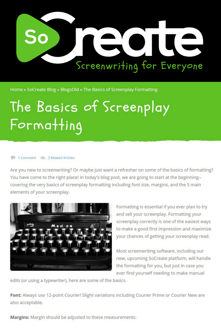 New To Screenwriting Or Just Want A Refresher On The Basics Of