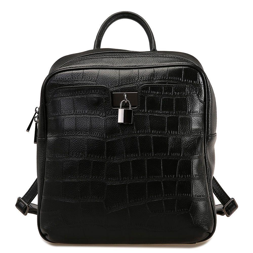 961aeafec442 Genuine Leather Black Backpack- Fenix Toulouse Handball