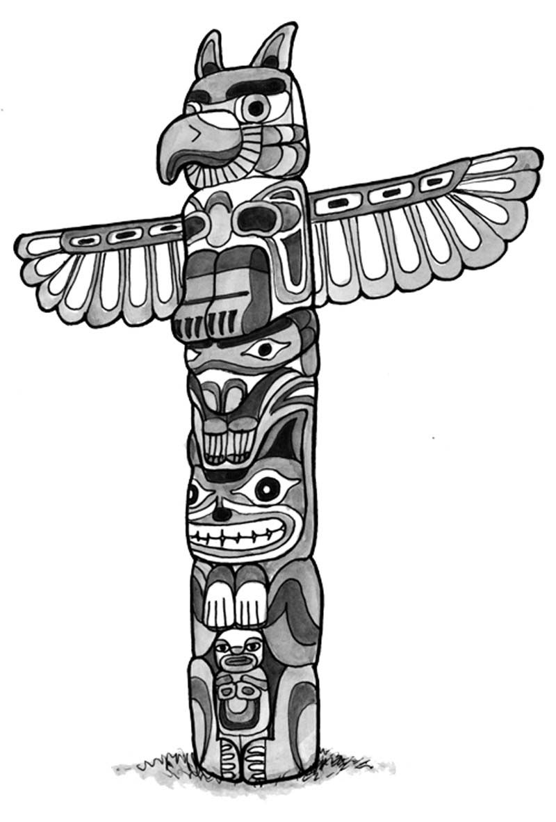hight resolution of totem pole clipart northwest coast indians pencil and in color totem pole clipart northwest coast indians