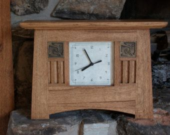 Craftsman Style Desk Clock Clock Mantle Clock Craftsman Style