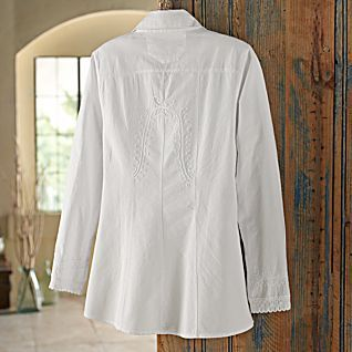 Lily of the Incas Button-front Blouse, back view - National Geographic Store