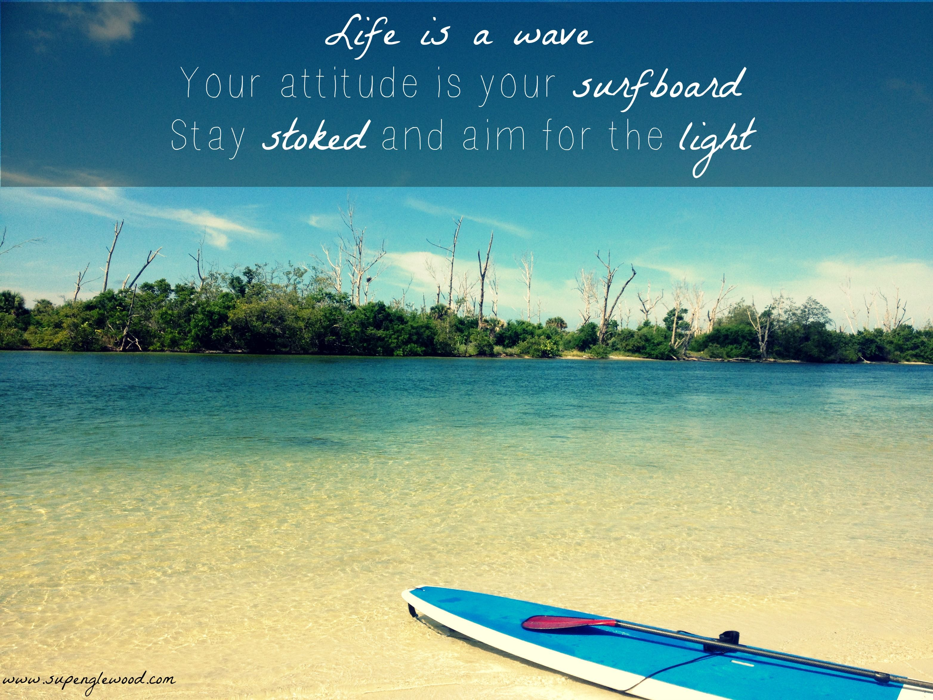 Life is a wave! Paddle board in Englewood, Florida ...