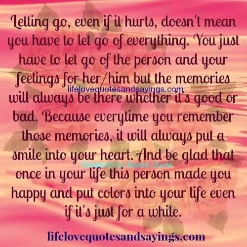 Quotes About Letting Go Someone You Love | For the Soul ...