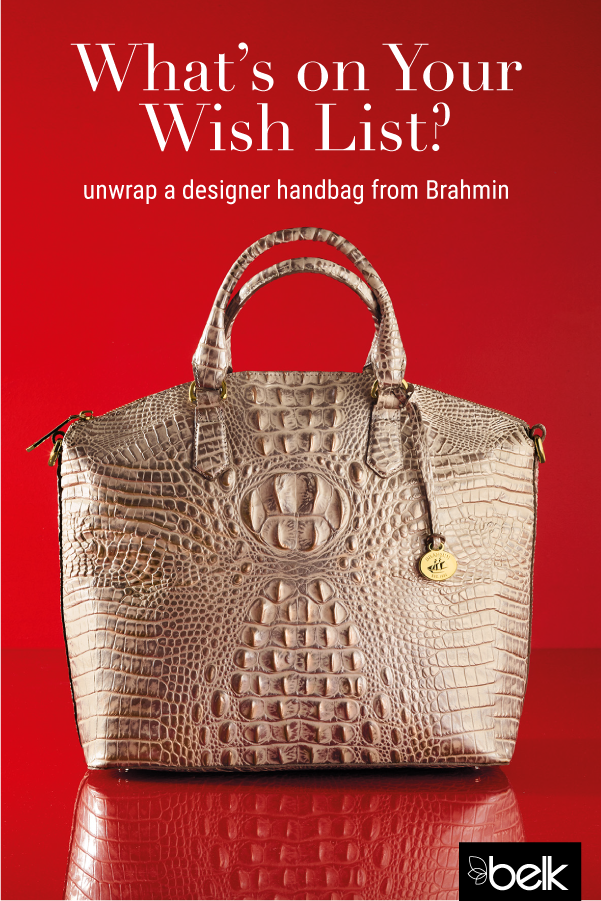 6a98582be239 Made from genuine leather with Brahmin s signature croc-embossed finish
