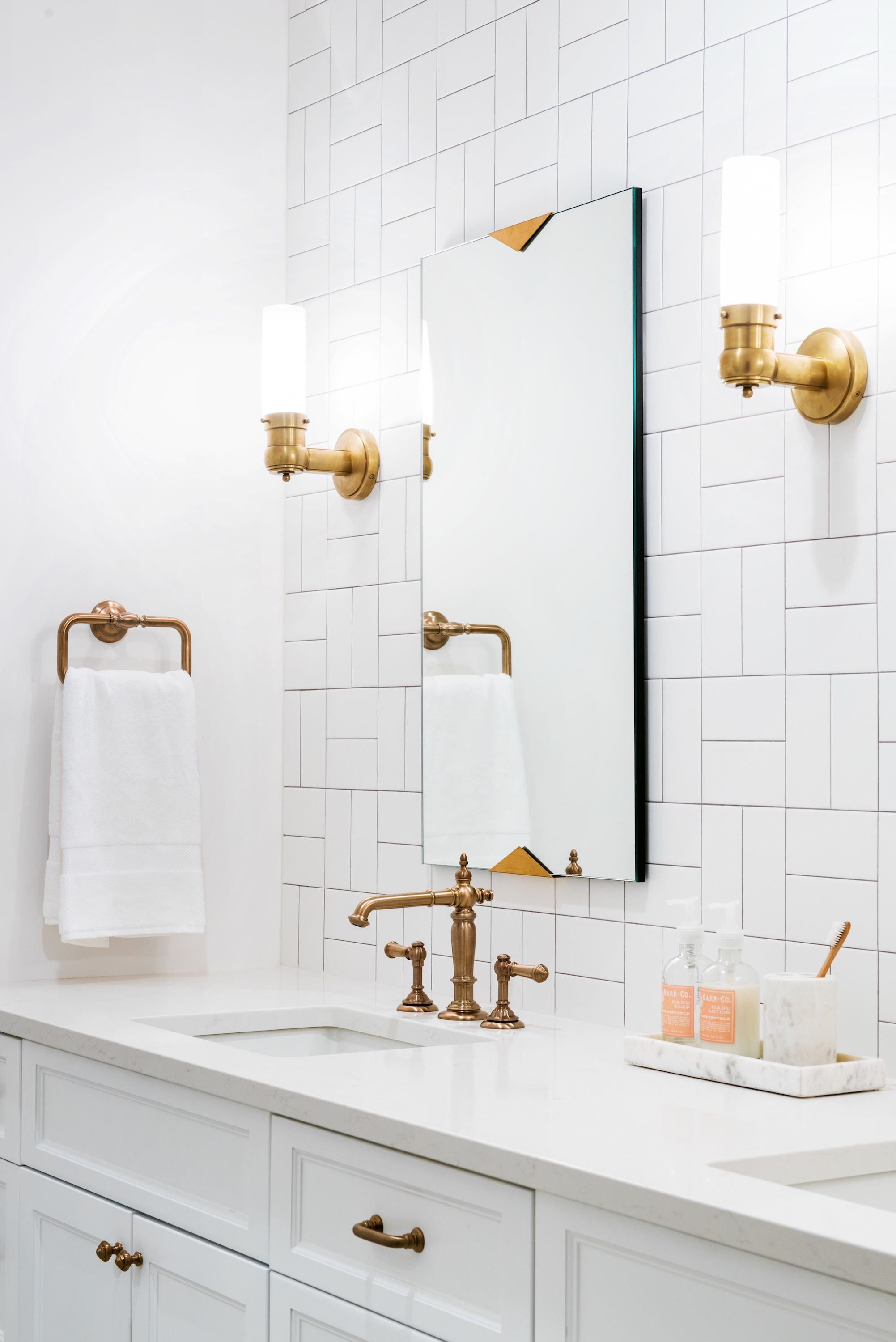Rose Gold Bathroom Fixtures Master Bath
