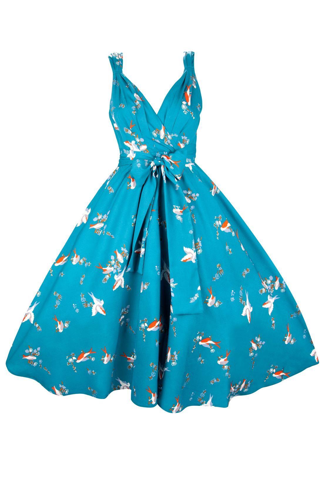New Ladies Kushi Vintage Retro 50s Swing WW2 Rockabilly Party Dress ...