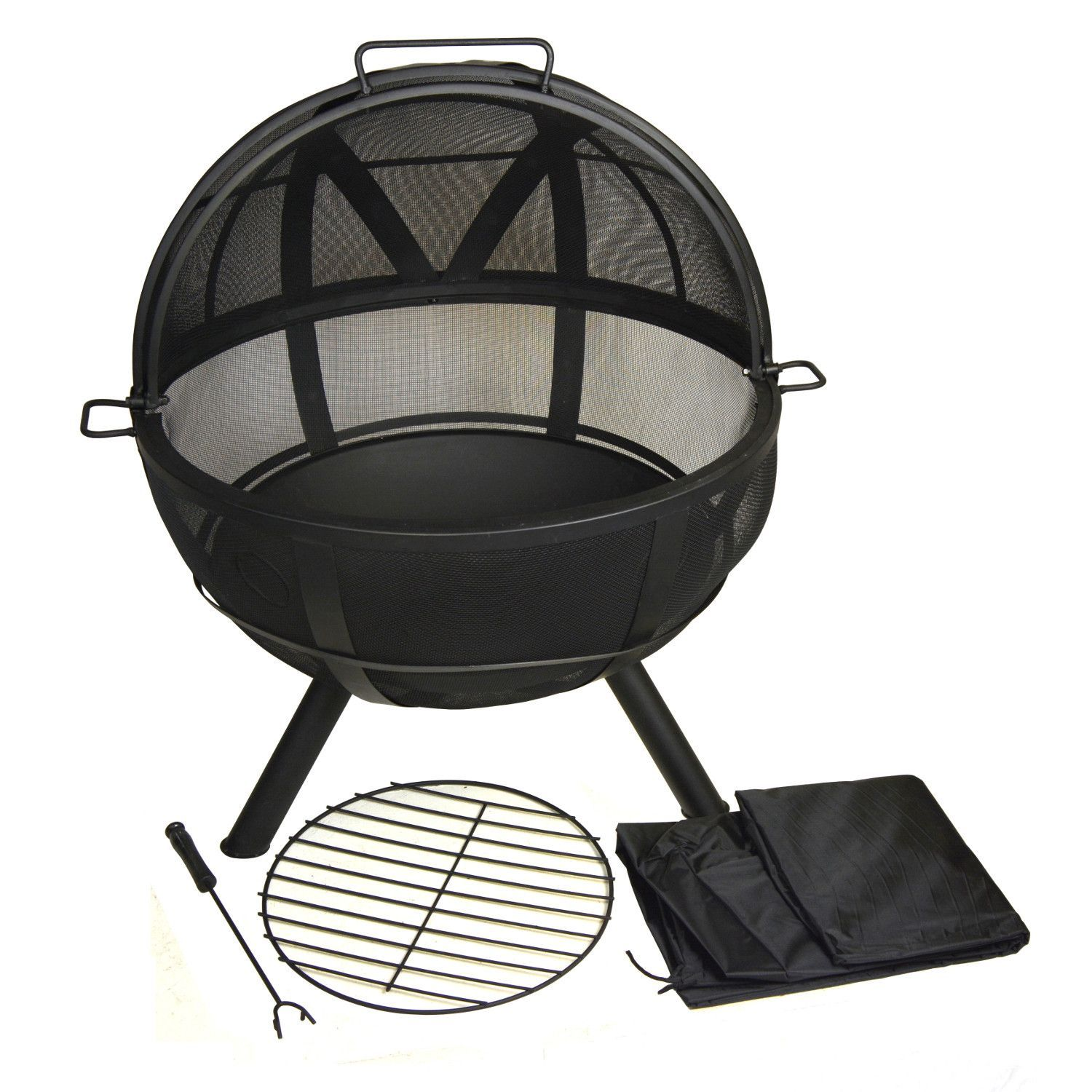 Glow Master Portable Fire Pit Sphere 30 Inch Diameter With Spark Protection Screen Fire Pit Sphere Fire Pit Portable Fire Pits
