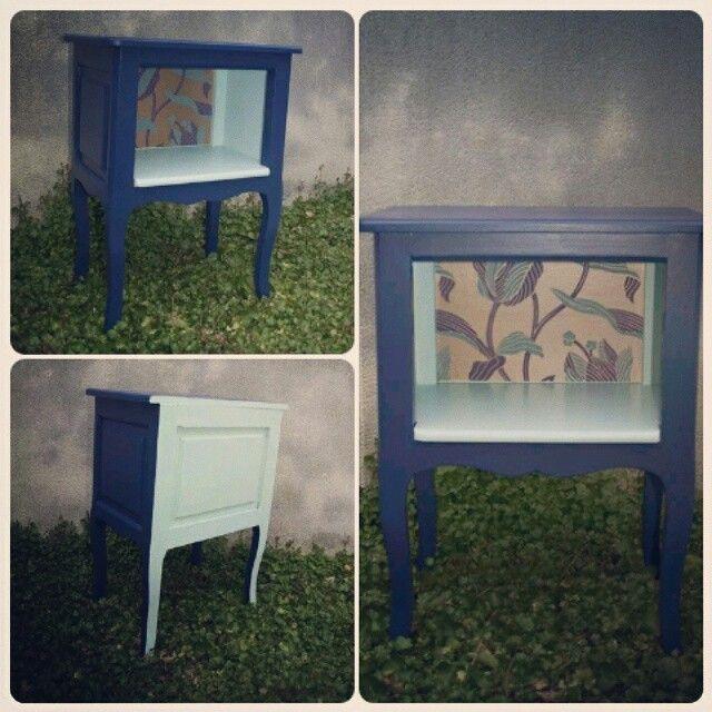 Chevet peint a la main Handmade meuble peinture papier peint A - repeindre du papier peint
