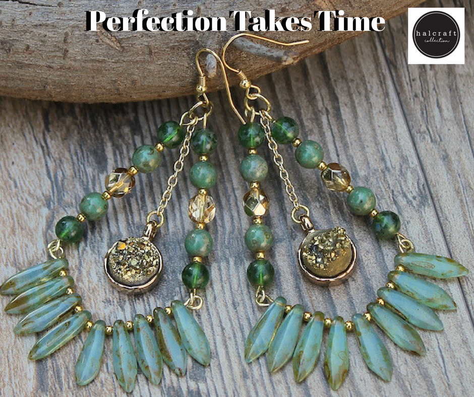 Comment Below! We'd love to know about how much time you take to create your perfect piece! #beadgallery #beading