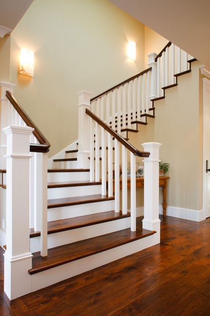 Craftsman New Home Traditional Staircase Traditional Staircase