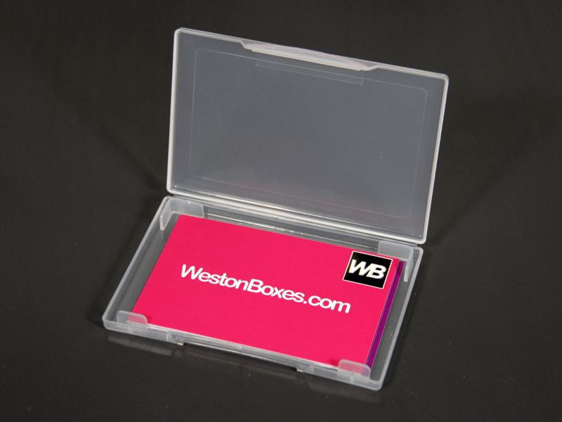 Clear Plastic Business Card Wallet To Hold Approx 15 Business Cards Available From Westonboxes Com Plastic Business Cards Business Card Wallet Card Wallet