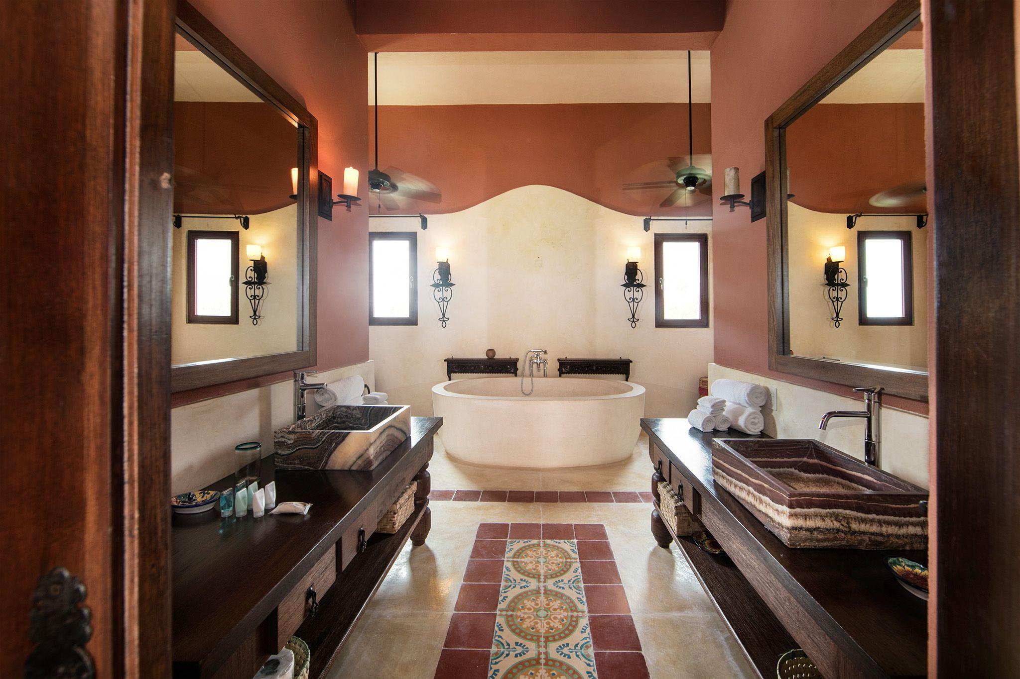 Riviera Maya Haciendas Hacienda Magica Master En Suite Bathroom Haciendas Banos Espacio