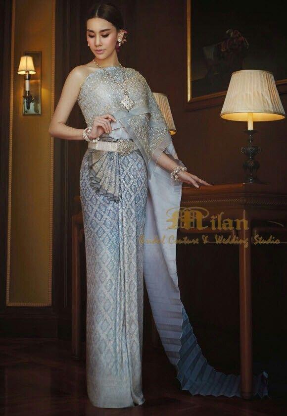 Pin by Kikkapom Anfile on Thai - style dress | Pinterest | Thai ...