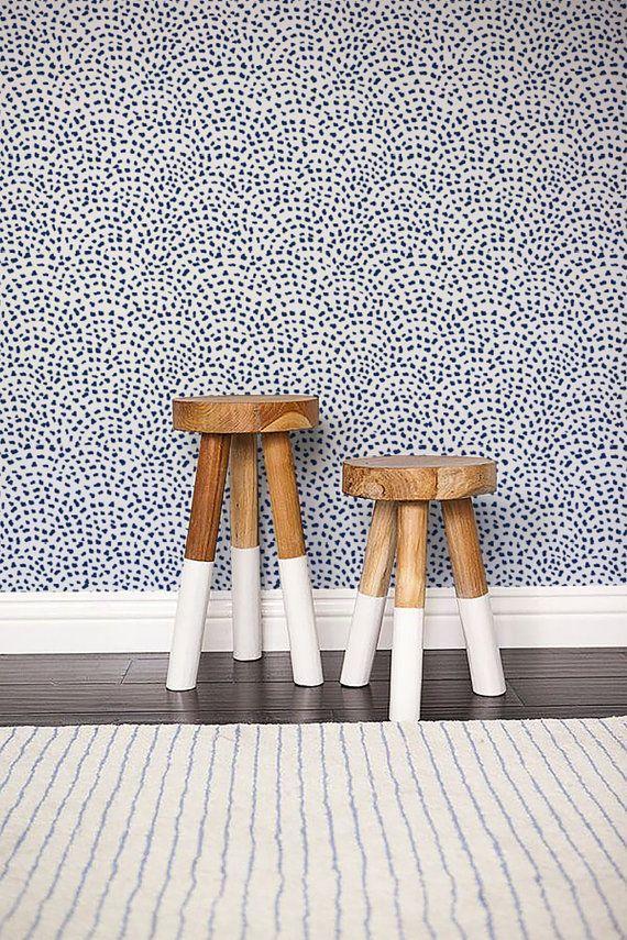 Self Adhesive Cute Spot Pattern Wallpaper Scallop Removable Etsy Polka Dot Walls Removable Wallpaper Wall Wallpaper